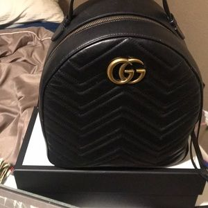 Black Gucci Backpack